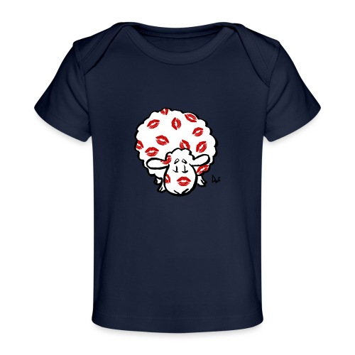 Kuss Mutterschaf - Baby Bio-T-Shirt