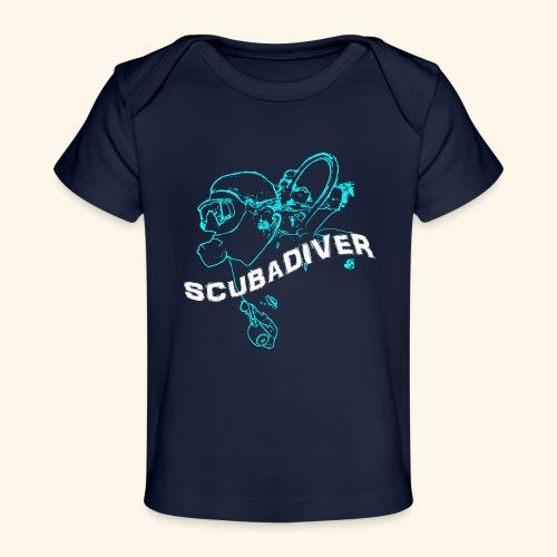 ScubaDiverShirt001 - Baby bio-T-shirt