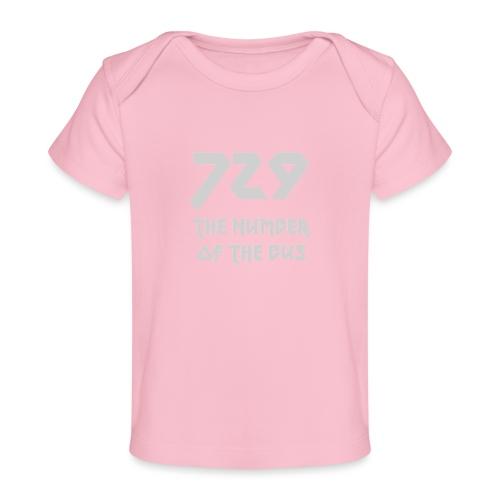 729 grande grigio - Maglietta ecologica per neonato