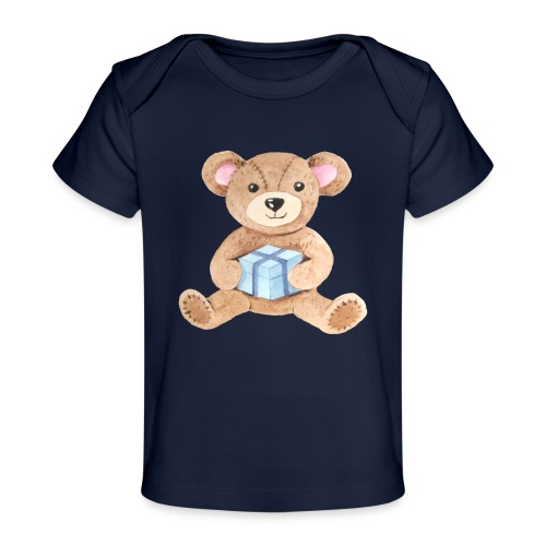 Baby Bib Teddy bear with gift - Organic Baby T-Shirt
