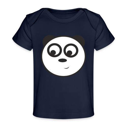 panda face /cara de panda - Camiseta orgánica para bebé