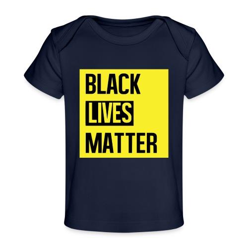 Black Lives Matter (yellow) - Baby bio-T-shirt