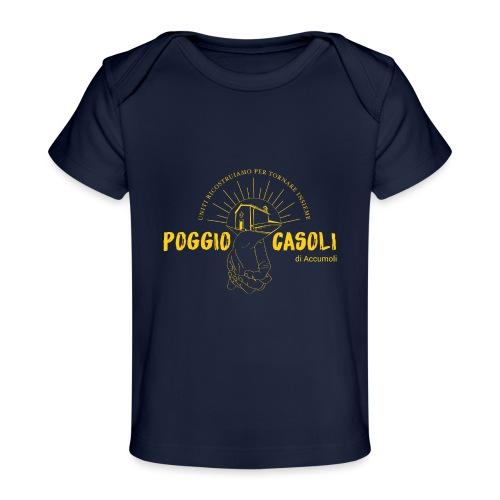 Poggio Casoli_Istituzionale_Giallo - Maglietta ecologica per neonato
