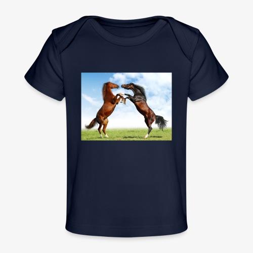 kaksi hevosta - Vauvojen luomu-t-paita