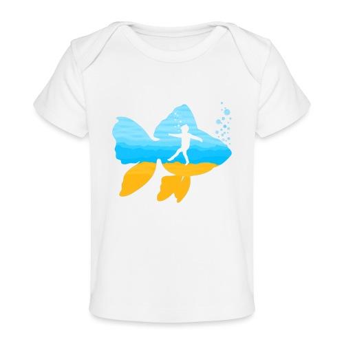 GEVOELIG VISJE - Baby bio-T-shirt