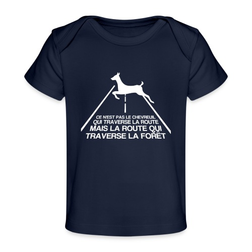 Chevreuil blanc - T-shirt bio Bébé