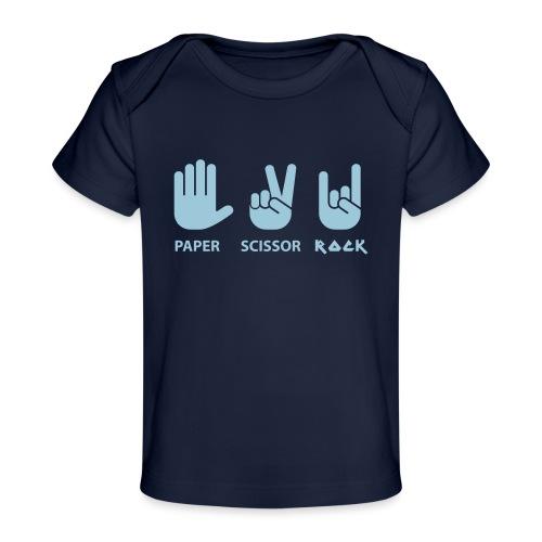 papier ciseaux roche c - T-shirt bio Bébé