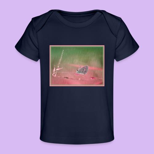 Farfalla nella pioggia leggera - Maglietta ecologica per neonato