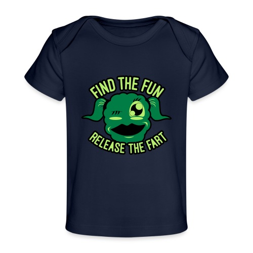 #GirlsOnly: Find The Fun - Release the Fart - Økologisk T-shirt til baby