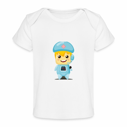 robot medico - Camiseta orgánica para bebé