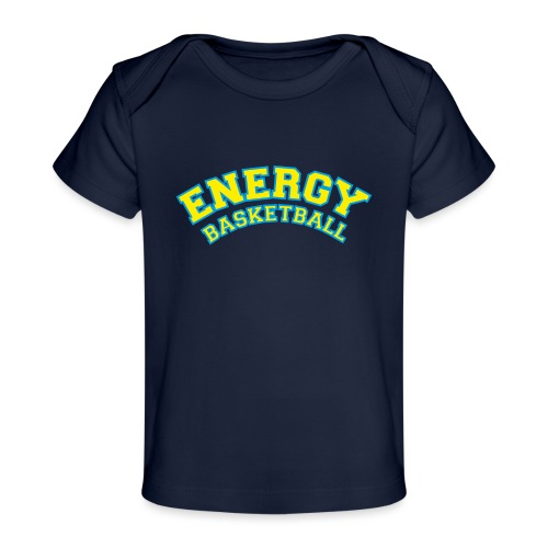 eco logo energy basketball giallo - Maglietta ecologica per neonato