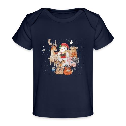 winter animals liggend - Organic Baby T-Shirt