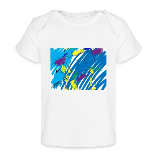 Signed Rainbow Cow - Organic Baby T-Shirt