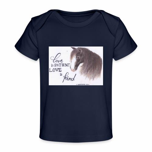 Pferd mit Bibelvers - Baby Bio-T-Shirt