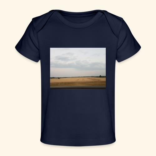 Feld und Wolken - Baby Bio-T-Shirt