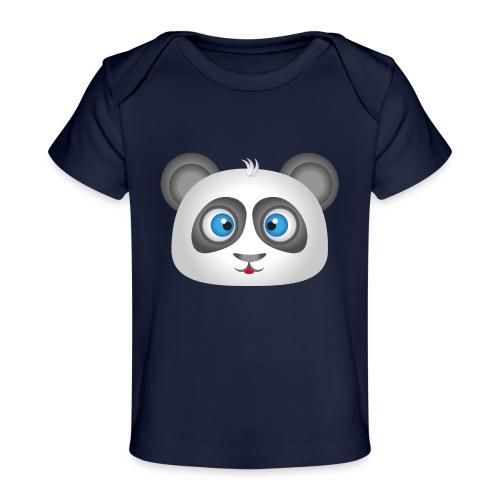 panda head / cabeza de panda 2 - Camiseta orgánica para bebé