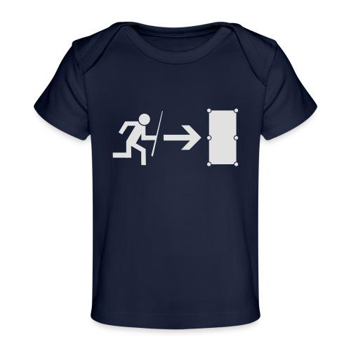 Emergency Exit Billard - Baby Bio-T-Shirt
