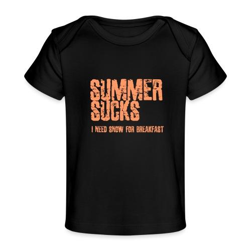 SUMMER SUCKS - Baby bio-T-shirt