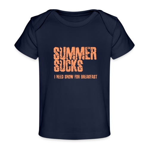 SUMMER SUCKS - Baby bio-T-shirt