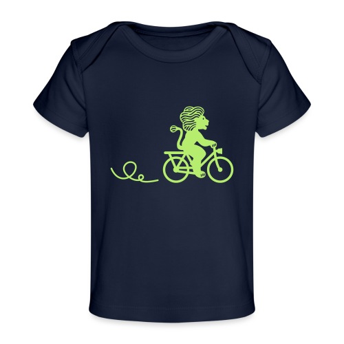 Züri-Leu beim Velofahren ohne Text - Baby Bio-T-Shirt