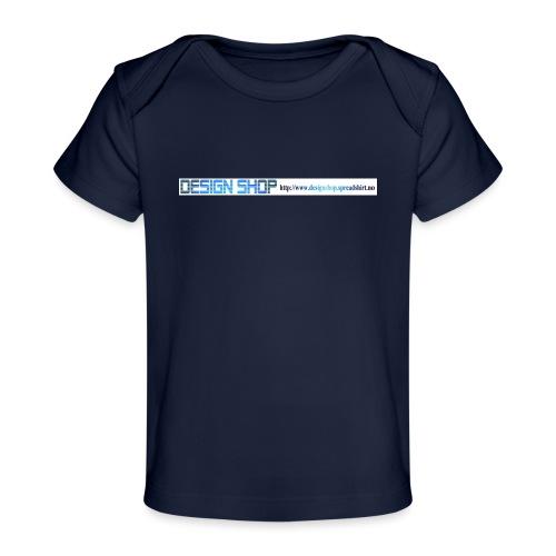 ny logo lang - Økologisk baby-T-skjorte