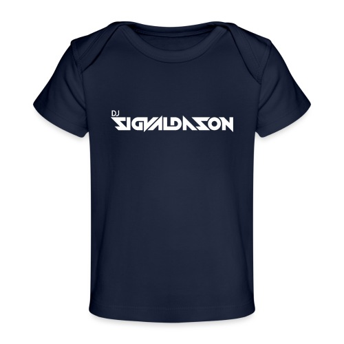 DJ logo hvid - Økologisk T-shirt til baby