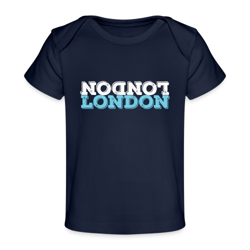 London Souvenir - Upside Down London - Baby Bio-T-Shirt