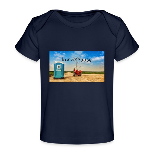 kurze Pause - Baby Bio-T-Shirt