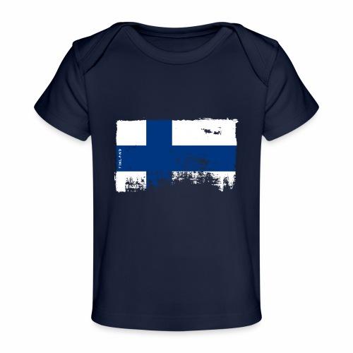 Suomen lippu, Finnish flag T-shirts 151 Products - Vauvojen luomu-t-paita