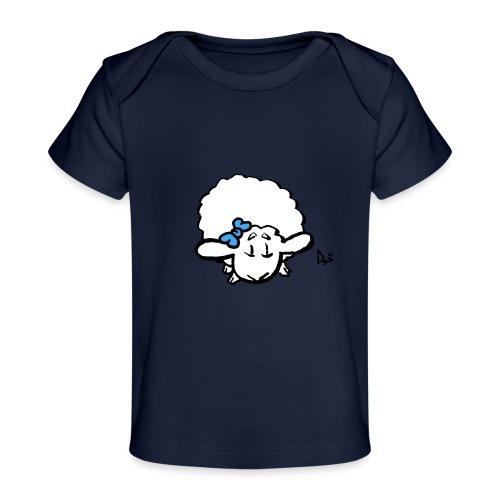 Baby Lamm (blau) - Baby Bio-T-Shirt