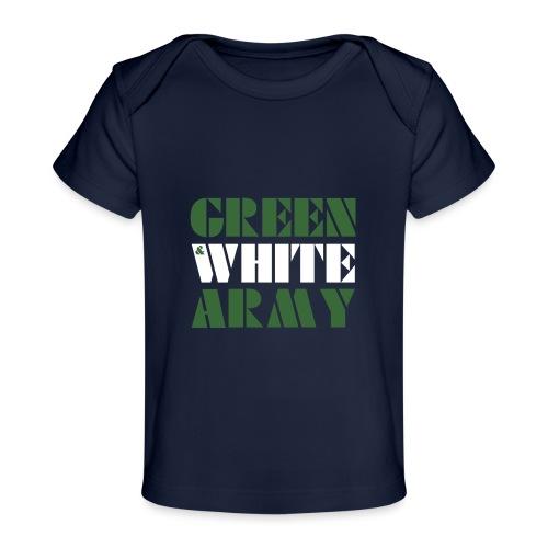 GREEN & WHITE ARMY _STENCIL_3 - Organic Baby T-Shirt