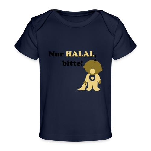 Nur Halal, bitte! Babylätzchen (männlich) - Baby Bio-T-Shirt