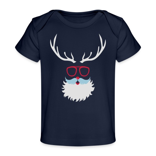 Santa Clauss Eye glasses - T-shirt bio Bébé