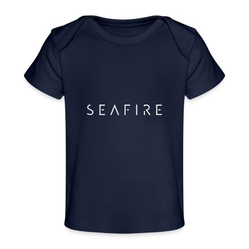 Seafire logo WHITE - Baby bio-T-shirt