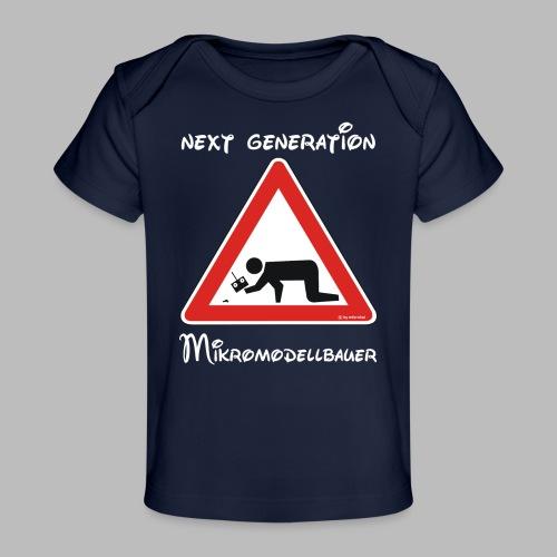Warnschild Mikromodellbauer Next Generation - Baby Bio-T-Shirt