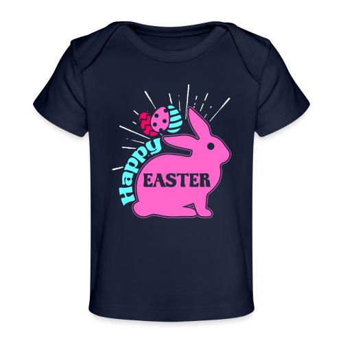Happy Easter - Frohe Ostern - Baby Bio-T-Shirt