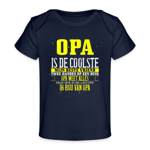 opa is de coolste - Baby bio-T-shirt