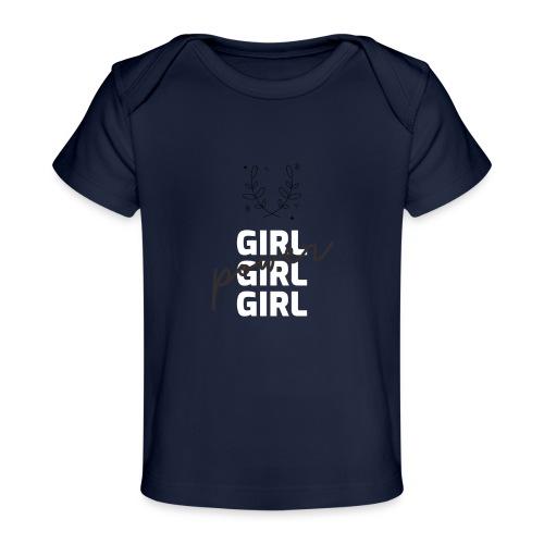 girl power t shirt design - Camiseta orgánica para bebé