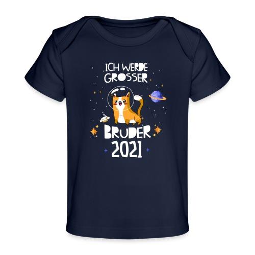 Großer Bruder 2021 Astronauten Katze Planeten - Baby Bio-T-Shirt