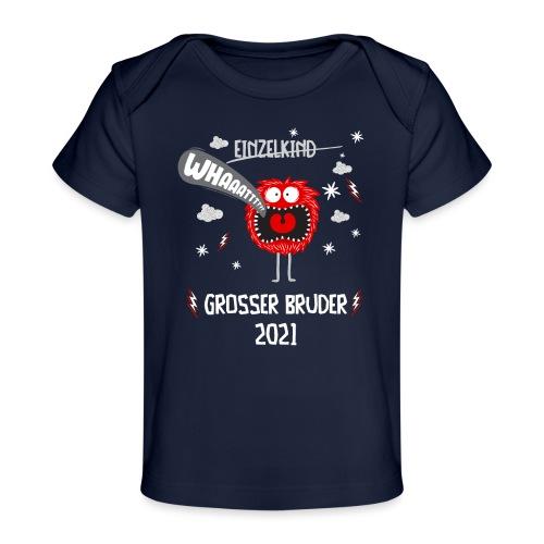 Großer Bruder 2021 lustiges Monster - Baby Bio-T-Shirt