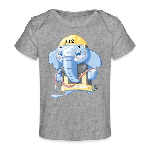 Feuerwehr Elefant - Baby Bio-T-Shirt