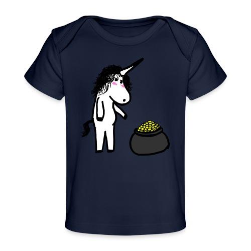 Oro unicorno - Maglietta ecologica per neonato
