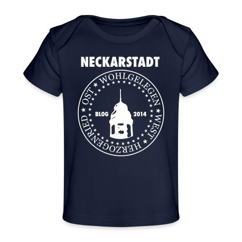 Neckarstadt – Blog seit 2014 (Logo hell) - Baby Bio-T-Shirt