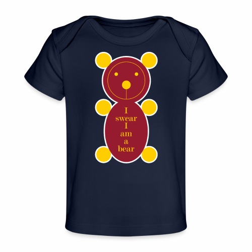 I swear I am a bear 001 - Baby bio-T-shirt