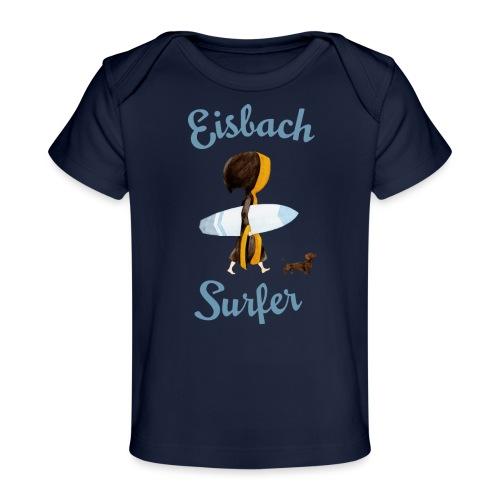 Münchner Kindl mit Surfbrett und Dackel - Baby Bio-T-Shirt
