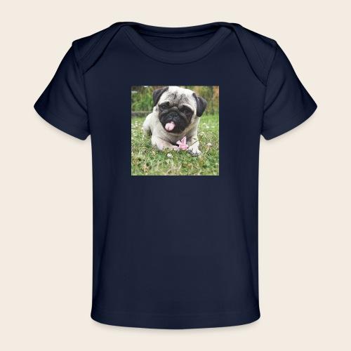 Mops Wiese - Baby Bio-T-Shirt