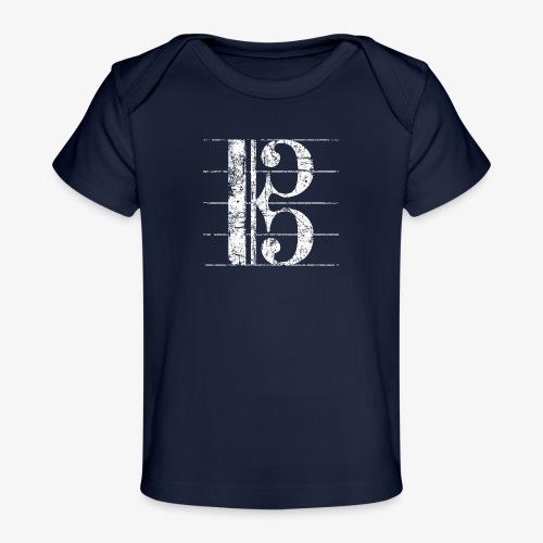 Altschlüssel, Bratschenschlüssel, Notenschlüssel - Baby Bio-T-Shirt