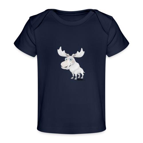 Łoś albinos - Ekologiczna koszulka dla niemowląt