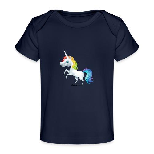 Regenbogen-Einhorn - Baby Bio-T-Shirt