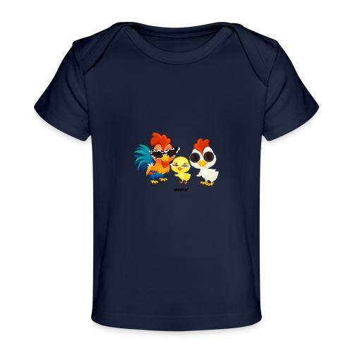 Huhn - von Momio Designer Emeraldo. - Baby Bio-T-Shirt